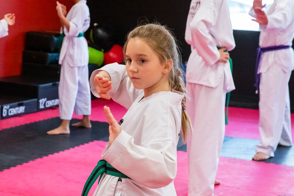 teen martial arts students
